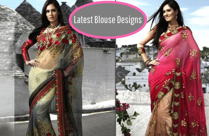 Latest Blouse Designs - Blouse back neck designs - Simple blouse designs