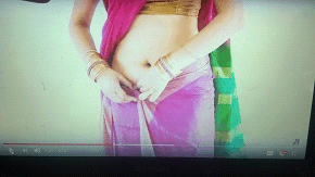Wearing a saree step by step in 10 steps - step 8