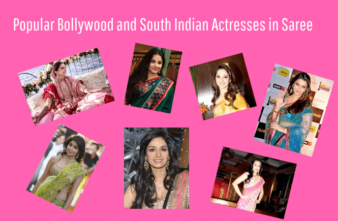 Actresses in Saree - Bollywood Actress and South Indian Actress in Saree