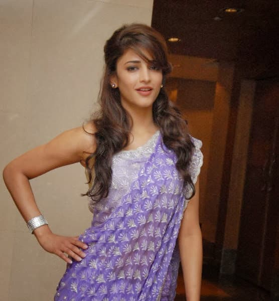shruti hassan in saree - 2
