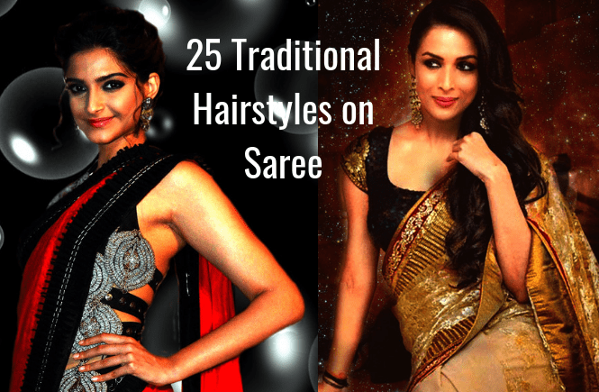 25 Traditional hairstyles for Saree