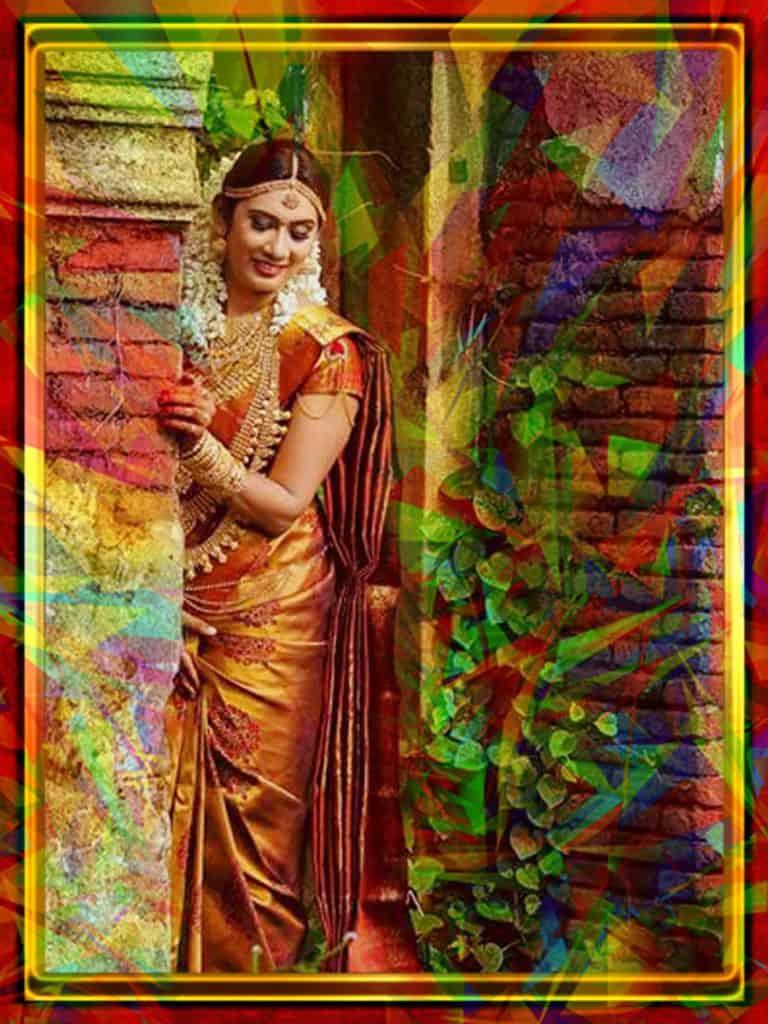 Golden Wedding Saree