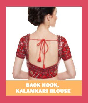 Back hook, kalamkari blouse