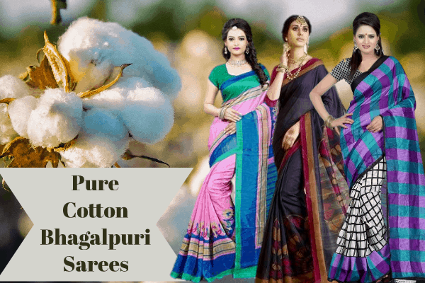 PURE COTTON BHAGALPURI SAREES