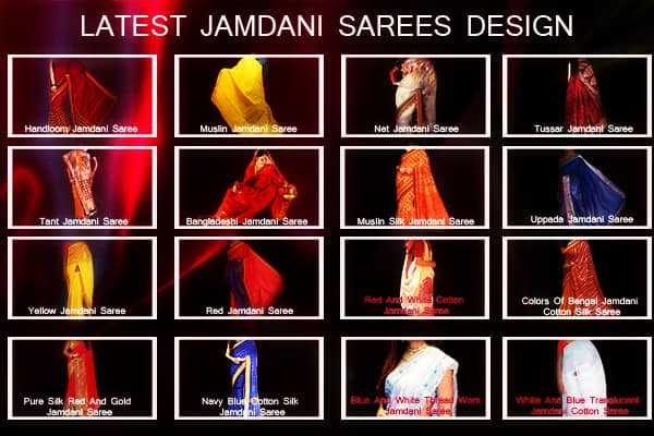 LATEST JAMDANI SAREES DESIGN