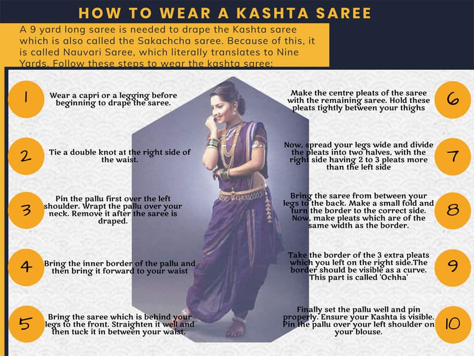 How To Wear A Kashta Saree